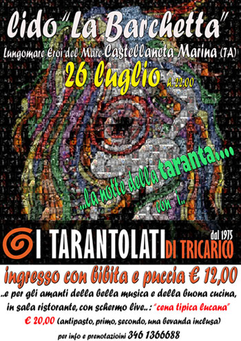 La taranta a Castellaneta Marina, World Music