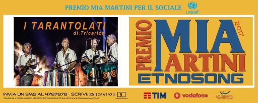 premio nazionale mia martini, World Music, Taranta