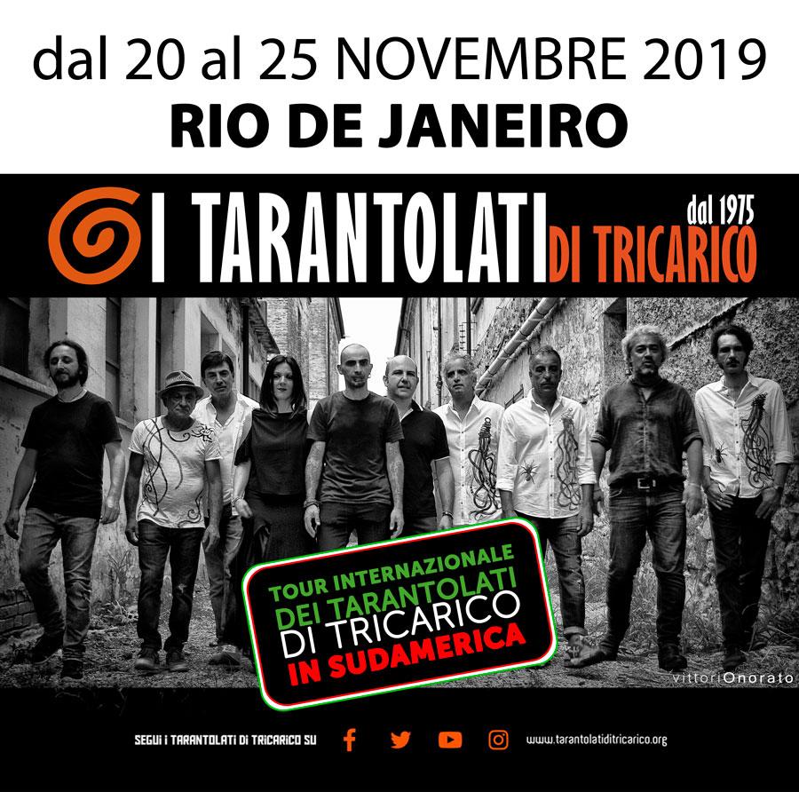 tour internazionale dei tarantolati di tricarico in sudamerica
