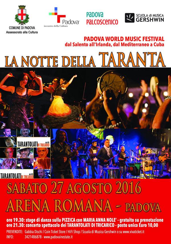 concerto a padova, World Music, Taranta