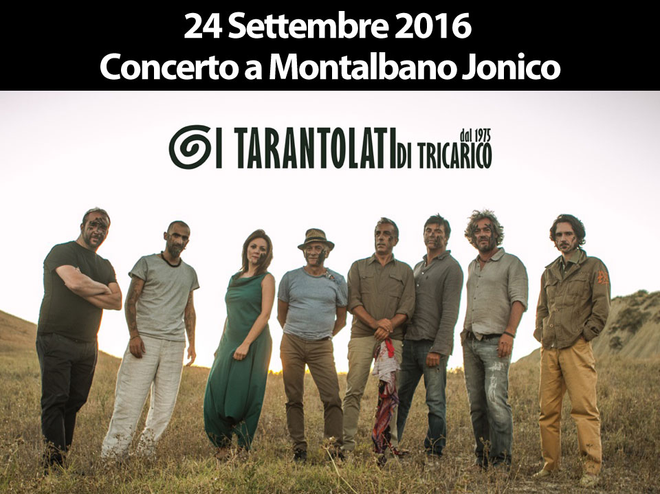 concerto montalbano jonico, World Music, Taranta