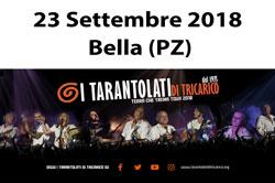 I Tarantolati di Tricarico in  a BELLA domenica 23 settembre 2018