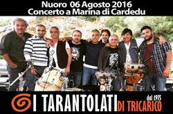 I Tarantolati di Tricarico in concerto in Sardegna - Marina di Cardedu - Nuoro